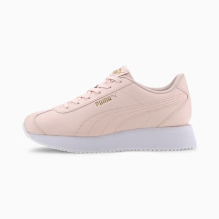 Turino Stacked Women's Sneakers, Rosewater-Rosewater, small