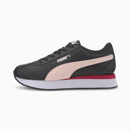 Turino Stacked Women's Trainers, Puma Black-Rosewater, small-IND