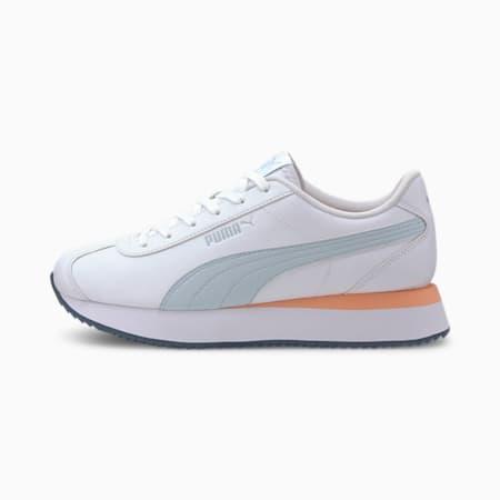 Turino Stacked Women's Sneakers, Puma White-Plein Air, small