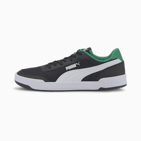 Caracal Style Unisex Sneakers, Puma Black-Puma White-Amazon Green, small-IND