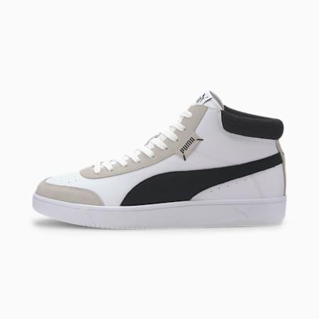 Court Legend Mid Sneakers, Puma White-Puma Black, small
