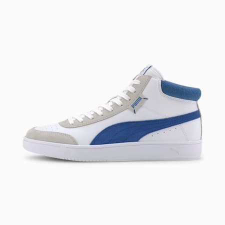 Court Legend Sneakers, Puma White-Palace Blue, small-IND