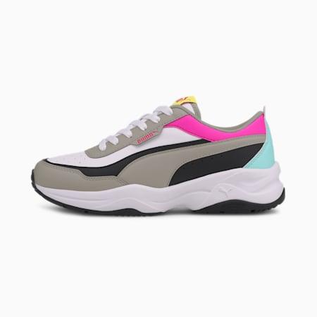 Cilia Mode Women's Trainers, White-Gray-Black-Pink-BLUE, small