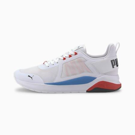 Anzarun Trainers, Puma White-PB-High Risk Red, small
