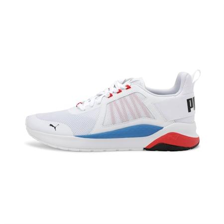 Anzarun Unisex Running Shoe, Puma White-PB-High Risk Red, small-IND