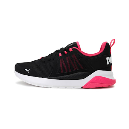 Anzarun Unisex Sneakers, Black-Glowing Pink-White, small-IND
