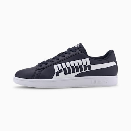 PUMA Smash v2 Max Sneakers, Peacoat-Puma White, small-IND