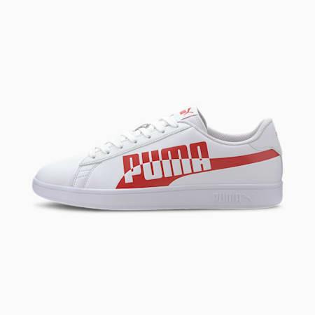 PUMA Smash v2 Max Sneakers, Puma White-High Risk Red, small