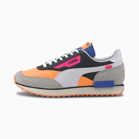 Future Rider Play On Trainers, PBlack-Fizzy Orange-Highrise, small