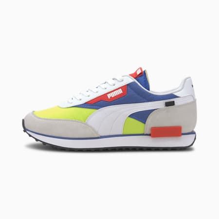 Future Rider Play On Sneakers, Puma White-Yellow Alert, small