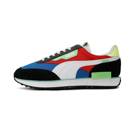 Future Rider Play On Sneakers, Lapis Blue-White-Puma Black, small-IND