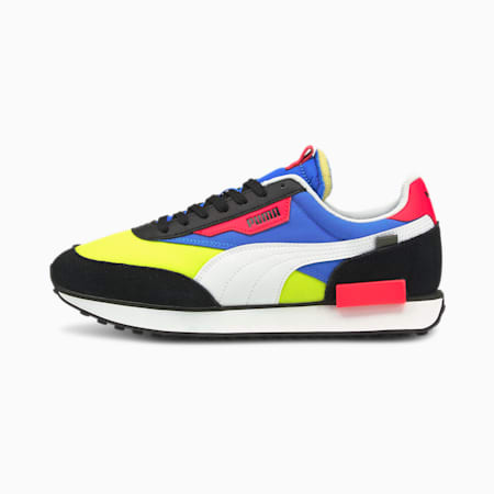 Future Rider Play On Unisex Sneakers, Puma Black-Yellow Glow-Ultra Blue, small-IND
