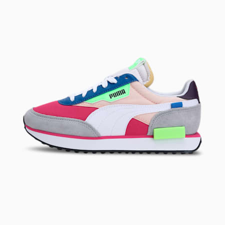 Future Rider Play On Unisex Sneakers, Beetroot Purple-Puma White-Glacial Blue, small-IND