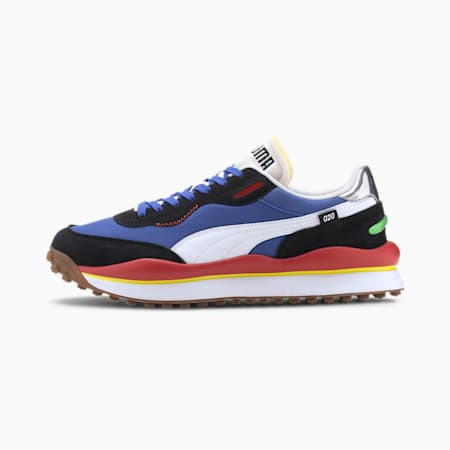 Style Rider Play On Trainers, Daz Blue-P.Black-Hgh Rsk Red, small