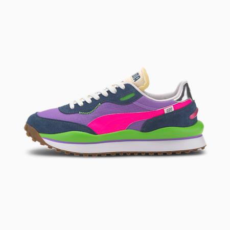 Rider 020 Play On Sneaker, Dark Denim-Luminous Purple, small