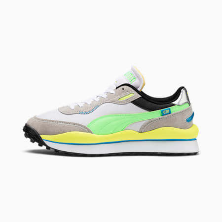 Style Rider Play On Trainers, Gray Violet-ElekGreen- White, small