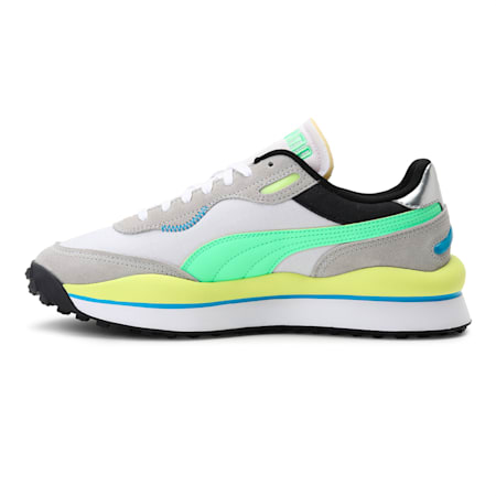 Style Rider Play On Sneakers, Gray Violet-ElekGreen- White, small-IND