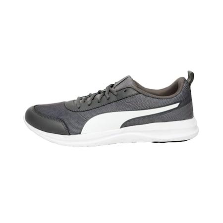 Omega IDP Men's Running Shoe, Asphalt-Charcoal Gray-White, small-IND