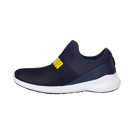 Pace Slip On IDP Men's Walking Shoe, Peacoat-White-Blazing Yellow, small-IND