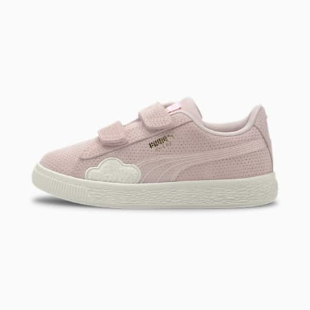 Cloud Suede Kids' Trainers, Rosewater-Whisper White, small-SEA