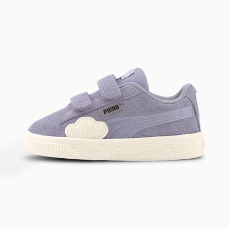 Cloud V Suede Babies' Trainers, Purple Heather-Whisper White, small-SEA