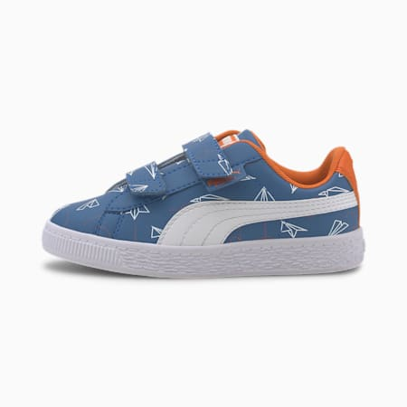 Basket Paper Plane Kids'Sneakers, Bright Cobalt-Puma White, small-IND