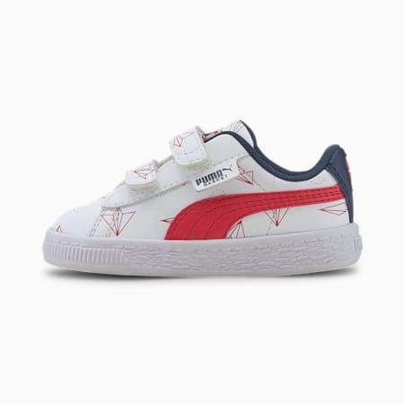 Zapatos Basket Paper Plane para bebés, Puma White-High Risk Red, pequeño
