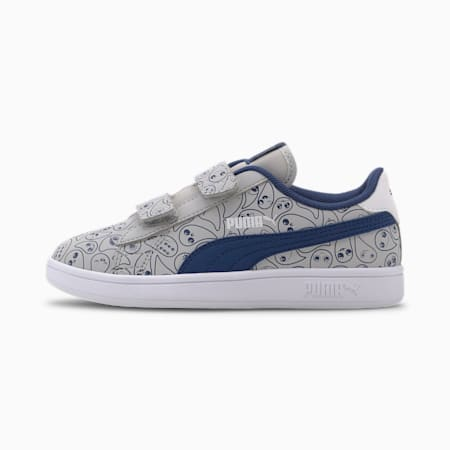 Smash v2 Monster Family Kids' Trainers, Limoges-Puma White-High Rise, small
