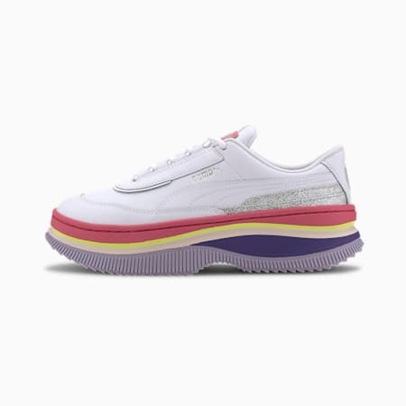 Deva '90s POP Women's Trainers, Puma White-Bubblegum, small-SEA