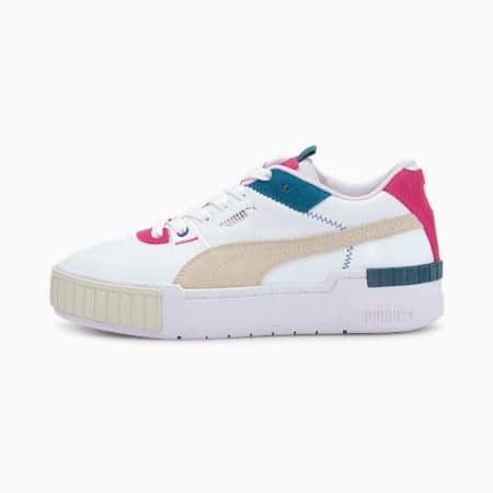 Cali Sport Mix Damen Sneaker, Puma White-Vaporous Gray, small