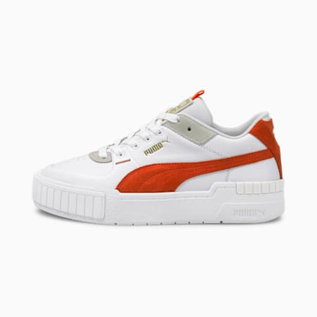 Cali Sport Mix Women's Shoes, Puma White-Tigerlily, small-IND