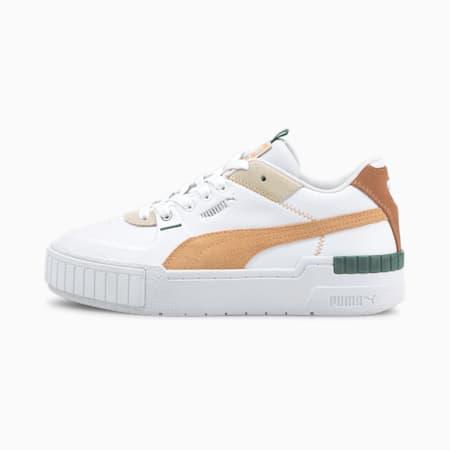 Cali Sport Mix Women's Shoes, Puma White-Peach Cobbler, small-IND