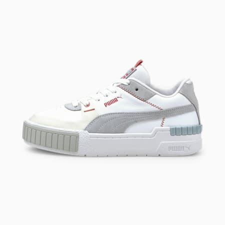 Zapatos deprotivos Cali Sport Mixpara mujer, PUMA White-Glacial Blue-Blue Fog, pequeño