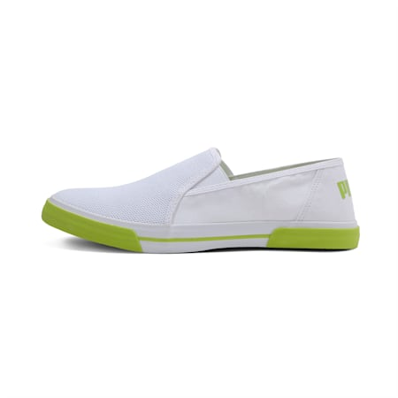 Procyon Slip-on IDP Sneakers, Puma White-Yellow Alert, small-IND