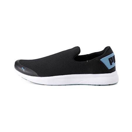 Propel Slip on IDP Walking Shoes, Black-Bluestone-Puma White, small-IND