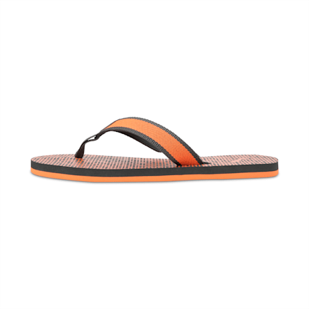 Conik GU 2 IDP Flip Flops, Dark Shadow-Vibrant Orange, small-IND