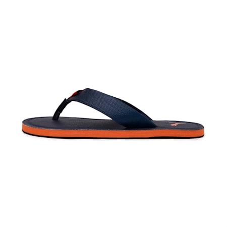 Ketava Duo Men's Flip Flops, Peacoat-Jaffa Orange, small-IND