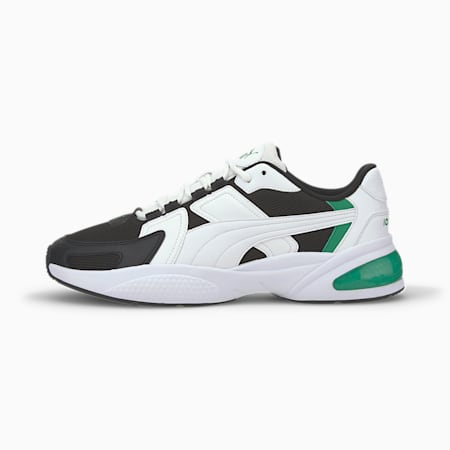 Ascend Sneakers, White-Black-Amazon Green, small-IND
