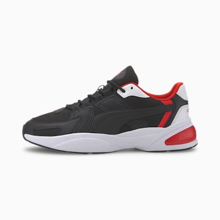 Ascend Sneakers, Black-White-High Risk Red, small-IND