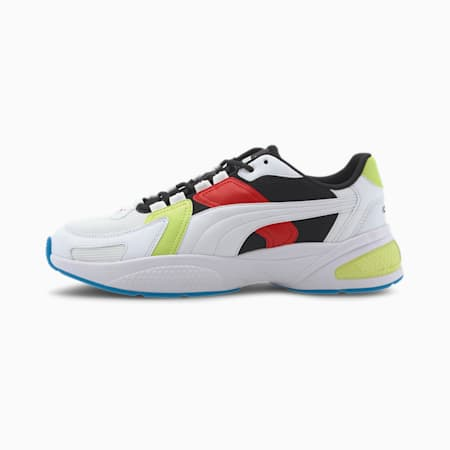 Ascend Sneaker, White-White-Black-Red-Green, small