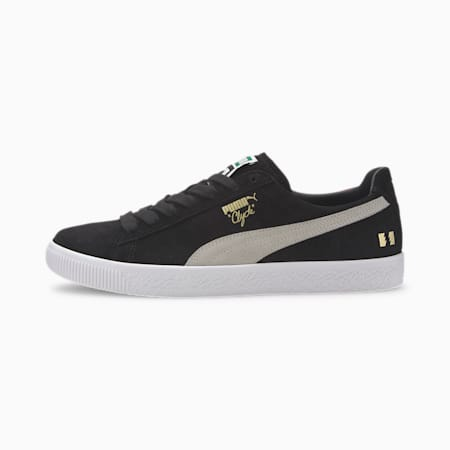 PUMA x THE HUNDREDS Clyde Men's Sneakers, Puma Black-Puma White, small