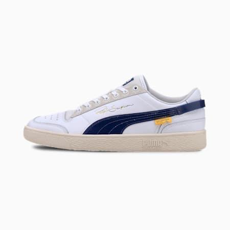 PUMA x RANDOMEVENT Ralph Sampson Lo Trainers, Puma White-TRUE BLUE, small