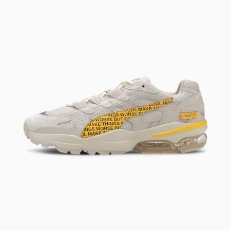 Zapatos deportivos PUMA x RANDOMEVENT CELL Alien, White Asparagus-Lemon Chrome, pequeño