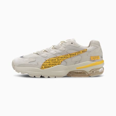 PUMA x RANDOMEVENT CELL Alien Trainers, White Asparagus-Lemon Chrome, small-SEA