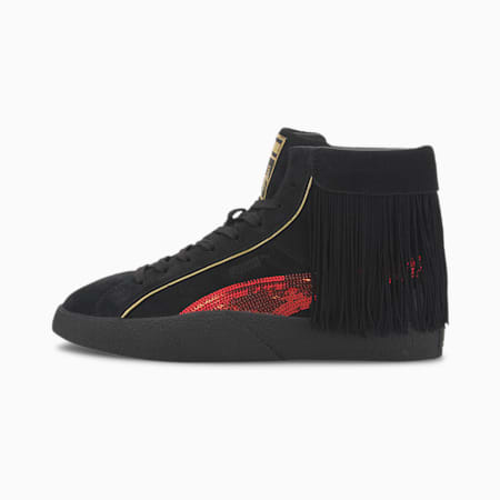 PUMA x CHARLOTTE OLYMPIA Love Women's Trainers, Puma Black-High Risk Red, small
