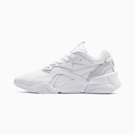 Nova Iridescent Women's Trainers, Puma White-Puma Black, small