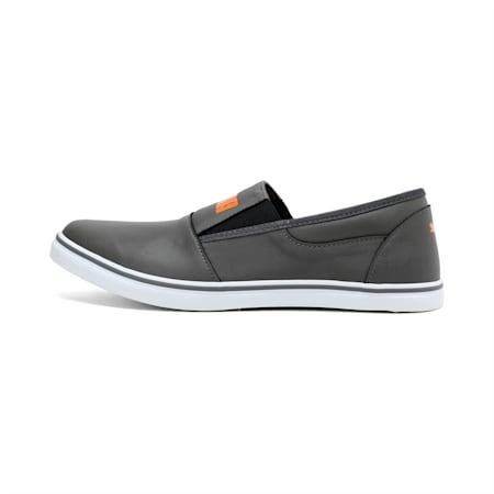 Funk Slip on IDP Sneakers, Dark Shadow-Orange-White, small-IND