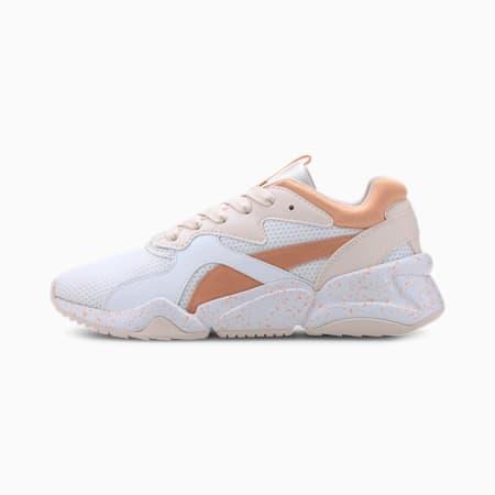 Nova Fruit Girls' Shoes JR, Puma White-Cantaloupe, small