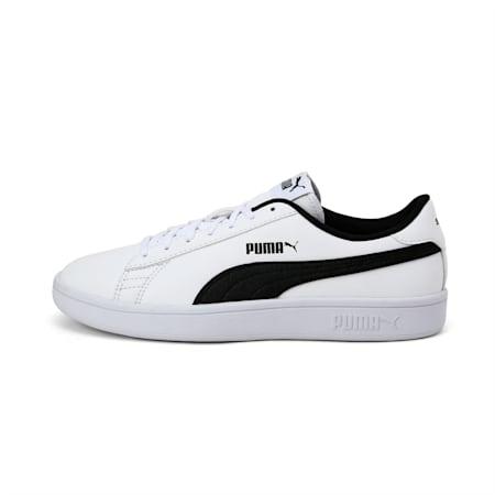 Smash V2 Garment Washed Kid's Shoes, Puma Black-Puma White, small-IND