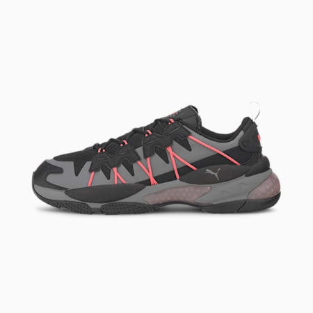 LQD CELL Omega Striped Kit Trainers, Puma Black-CASTLEROCK, small